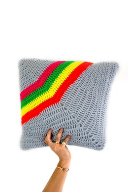 Neon Rainbow Cushion Cover