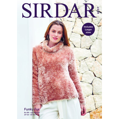 Sweater in Sirdar Funky Fur - 8237 - Downloadable PDF