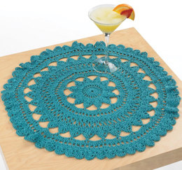 Mediterranean Surf Doily in Aunt Lydia's Fashion Crochet Thread Size 3 Solids - LC3101