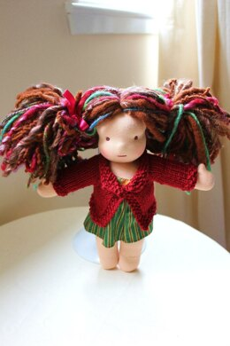 """Knitted 10-12"""" Doll Sweater"""