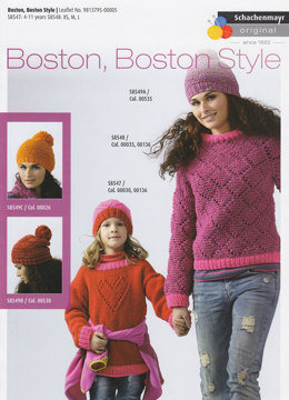 Sweaters and Hats in Boston and Boston Style Yarn