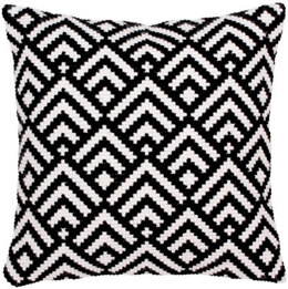 Collection D'Art Black-and-White II Cross Stitch Cushion Kit - Multi