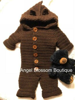 Crochet Baby Bear Snowsuit PDF