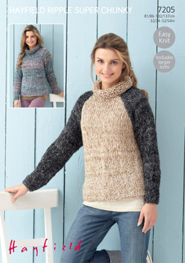 Sweaters in Hayfield Ripple Super Chunky - 7205