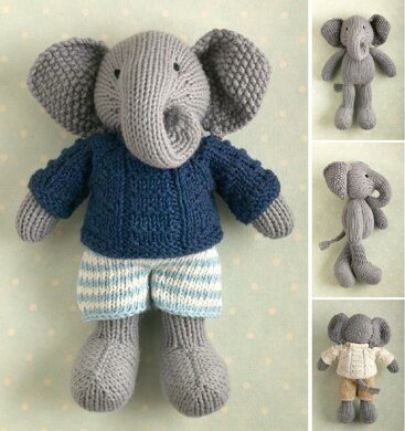 262ce214c9ea Boy Elephant in a textured sweater Knitting pattern by Julie Williams