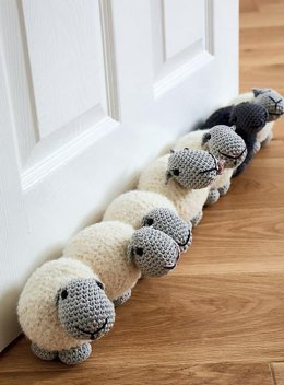 Row of sheep