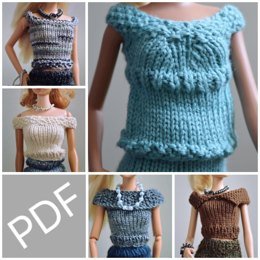 Barbie Doll Essential Tops 5 Pack