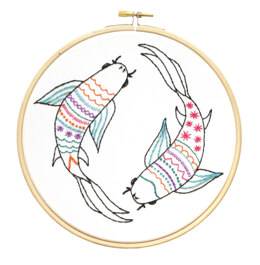 Hawthorn Handmade Koi Carp Embroidery Kit - 7in