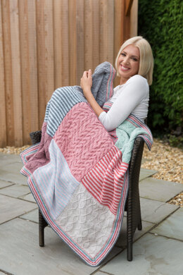 Blanket in Rico Creative Soft Wool Aran - Downloadable PDF