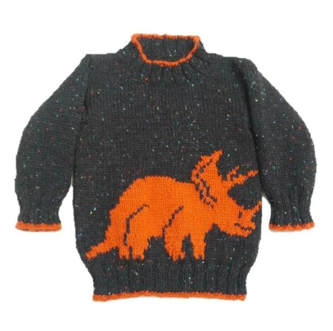 Dinosaur Sweater and Hat - Triceratops