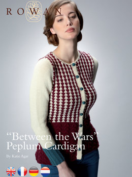 """Between The Wars"" Peplum Cardigan in Rowan Pure Wool DK and Wool Cotton"