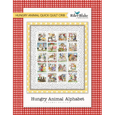 Riley Blake Hungry Animal Quick Quilt Crib - Downloadable PDF