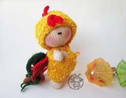 Pebble doll Rooster