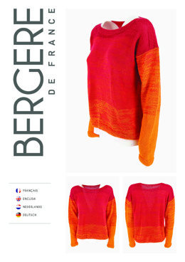 Round Neck Sweater in Bergere de France Unic - Downloadable PDF