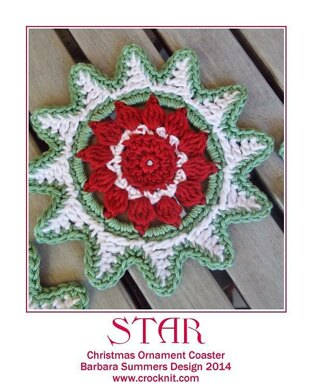 STAR Christmas Ornament Coaster