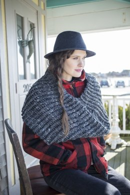 Bantry Cowl in Berroco Inca Tweed - 346-2