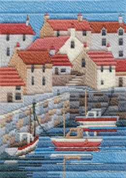 Derwentwater Designs Coastal Summer Long Stitch Kit - 17 x 24cm