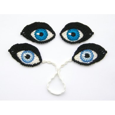 Crochet EYES and BOOKMARK