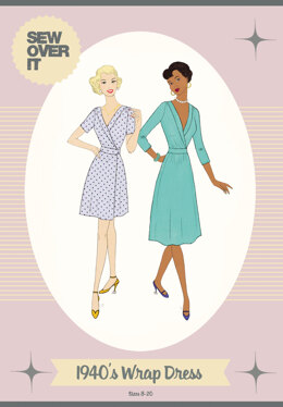 Sew Over It 1940's Wrap Dress - Downloadable PDF, Size UK 8-20