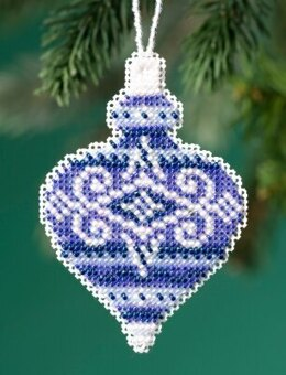 Mill Hill Beaded Holiday - Sapphire Opal Beaded Ornaments