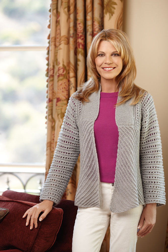 Glamour Jacket In Lion Brand Vanna S Glamour L10351b