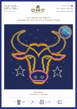 DMC Taurus Cross Stitch Kit - 7in