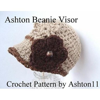 Ashton Beanie Visor | Crochet Pattern by Ashton11