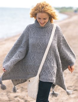 Blanket Poncho and Bag in Patons Classic Wool Worsted