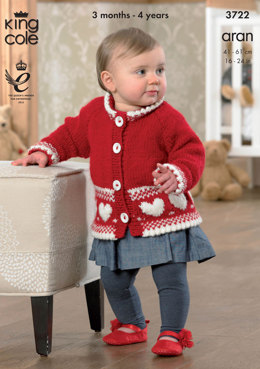 Jacket, Cardigan and Sweater in King Cole Comfort Aran - 3722