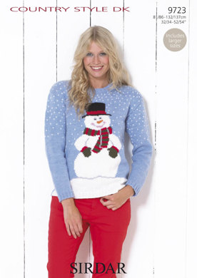 Snowman Jumper in Sirdar Country Style DK - 9723