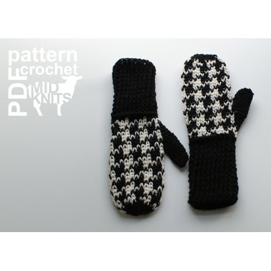 Crochet Houndstooth Mittens 2016007 Crochet Pattern By Midknits