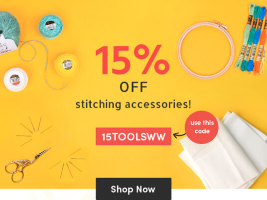 15 percent off stitching accessories! Use your code 15TOOLSWW