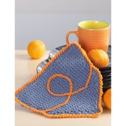 Jeans Pocket Dishcloth in Bernat Handicrafter Cotton Solids - Downloadable PDF