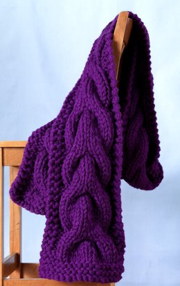 Jumbo Cable Scarf in Lion Brand Vanna's Choice - 81054AD