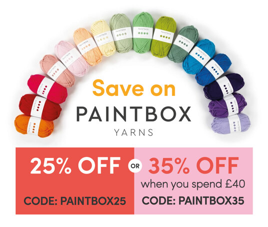 Save on Paintbox Yarns! Get 35 percent off when you spend £40. Code: PAINTBOX35