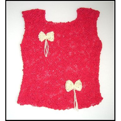 Lacy Top with Bows (allsquareknits)