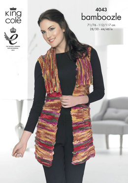Jacket and Waistcoat in King Cole Bamboozle - 4043