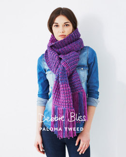 Two Colour Scarf in Debbie Bliss Paloma Tweed - DB040