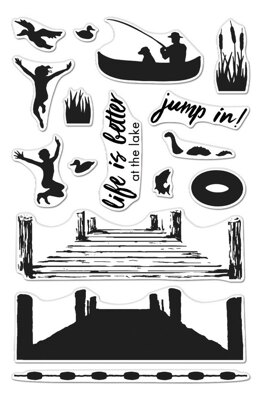 """Hero Arts Color Layering Clear Stamps 4""""X6"""" - Pier At The Lake"""