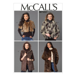 McCall's Misses' Shrug, Jacket, Vest and Coat M7257 - Sewing Pattern