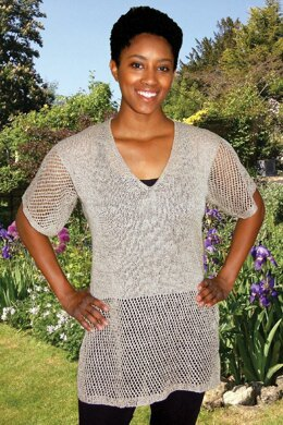 Lace-Trimmed Tunic to Knit