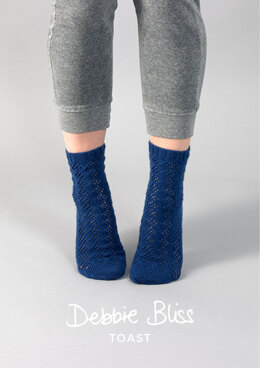 Brandi Socks in Debbie Bliss Toast - DB206 - Downloadable PDF