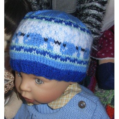 Little whale kids beanie
