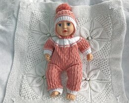 Doll's Bodysuit and Hat
