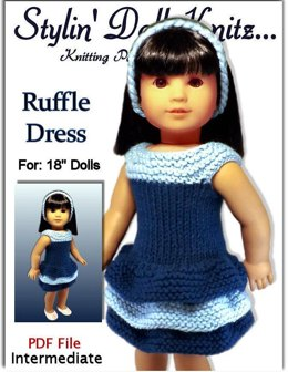Doll Dress Knitting Pattern. Fits American Girl and 18 inch dolls