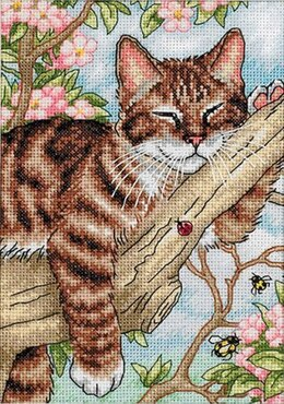 Dimensions Napping Kitten Cross Stitch Kit