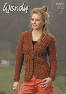 Cabled Cardigan in Wendy Merino DK (5683)