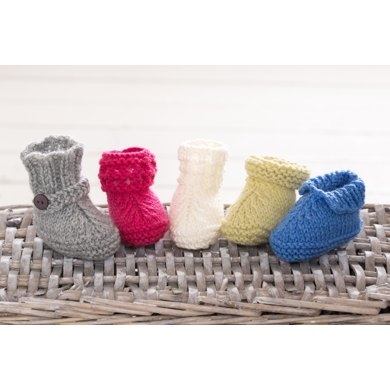 Super Easy Baby Booties Knitting Pattern By Fiona Goble