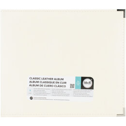 """We R Memory Keepers We R Classic Leather D-Ring Album 12""""X12"""" - Vanilla"""