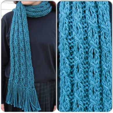 Mock Cable And Eyelet Scarf Knitting Pattern By Distracted Knits